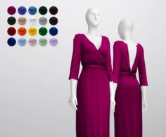 Wrap robe dress by Rusty Nail for The Sims 4