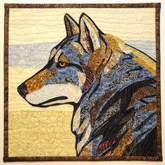 Wolf by Loreen Leedy: 2010 SAQA auction quilt