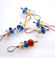 Stitch Markers Snag Free Small Set of 6 Sock Lace by Tangerine8, $6.00