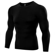 Plus Size Men Compression Base Layer Tight Top Shirt Under Skin Long Sleeve T-shirt Tops Tees 6 Colors #AP