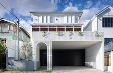In overcoming restrictive design parameters, Auchenflower House by DAHA is a practical family home with boundless fun factor. Roof Beam, French Oak, New Builds, Ground Floor, Interior Architecture, Residential Architecture, Interior Design, Windsor, Living Spaces