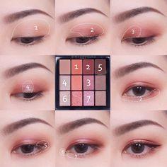 Pin by Maliko on Makeup in 2020 Korean Makeup Look, Korean Makeup Tips, Asian Eye Makeup, Makeup Eye Looks, Eye Makeup Art, Cute Makeup, Eyeshadow Makeup, Beauty Makeup, Korean Eyeshadow