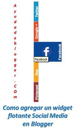 Como agregar un widget flotante Social Media en blogger « Widgets y Plugins para Blogger