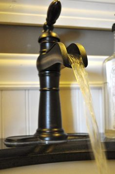 Love the Rustic feel of this faucet