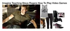 """Imagine Teaching Steve Rogers How To Play Video Games"" by alyssaclair-winchester ❤ liked on Polyvore featuring H&M, NIKE, imagine, Avengers, marvel, CaptainAmerica and steverogers"
