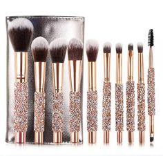 Crystal Makeup, Rose Gold Makeup, Glitter Makeup, Eyeliner, Eyeshadow, Maquillage Or Rose, Goddess Makeup, Unicorn Makeup, Lip Brush