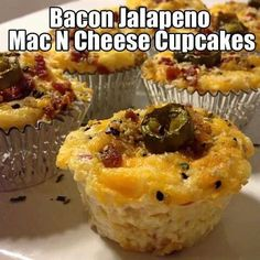Bacon mac and cheese cups