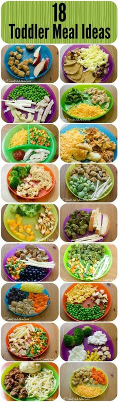 Simple & Easy Toddler Meal Ideas |--> great ideas here!!