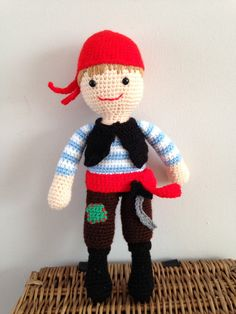 Handmade pirate doll by Bitzas on Etsy