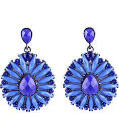 Blue Gemstone Silver Fashion Earrings 6.93
