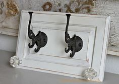 Hometalk :: Repurpose Cabinet Doors to Coat Hooks