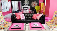 The Barbie Suite at the Palms... Love it!!
