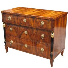Viennese Biedermeier Chest of Extraordinary Quality | From a unique collection of antique and modern commodes and chests of drawers at https://www.1stdibs.com/furniture/storage-case-pieces/commodes-chests-of-drawers/