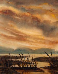 Jean Lurssen - watercolors: Marsh Light