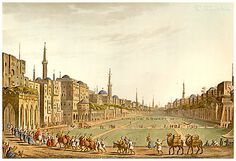 Murad Bey's Procession In Cairo's Main Square In 1822 ; By Thomas Milton. Murad Bey (c. 1750 – 1801) was an Egyptian Mamluk chieftain (Bey), cavalry commander and joint ruler of Egypt with Ibrahim Bey. Following his defeat at the hands of Napoleon's armies at the Battle of the Pyramids, Murad fled to Upper Egypt, mounting a brief guerrilla campaign for a year.