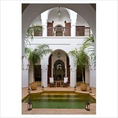 Another Moroccan courtyard, this one with a pool.