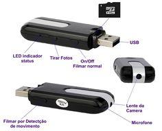 Pendrive Espião Camera Filma Sensor Moviment Grava Voz I 010 - R$ 33,49 em Mercado Livre