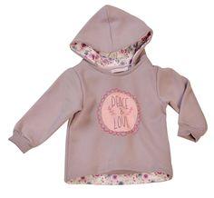 Buzo para bebé nena con capucha combinado