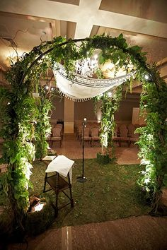LOVE THIS! Technically it's called a Chuppah, used in Jewish weddings used to symbolize the scared space of the bond Man &Wife share. Love the meaning & I love this design.