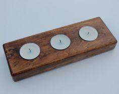 Tee-Licht-Kerze-Halter gemacht mit Paletten, Holz und rustikalen finish