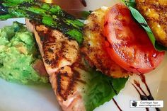 Come out and join us this evening for a taste of our featured items! Grilled Salmon on a Bed of Pulped Avocado, Aged Balsamic and Grilled Asparagus or our Tomato Basil Napoleon!  #perkysbistro #wednesdaynightout #eeeeeats