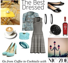 """Aqua to Black"" by rose-meister on Polyvore"