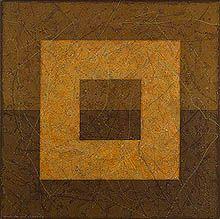 Vicente Pascual, pinturas geométricas sobre lienzo y papel 2005