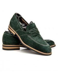 Image of Artioli Su Muschio Suede Leather Loafer
