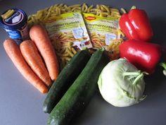 Maggi Sommernudeln mit buntem Gemüse verfeinert mit Petersilie und Schnittlauch Foto 1