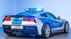 """2015 Chevrolet Corvette Stingray Coupe Polizei """"Tune it! Chevrolet Corvette Stingray, Automobile, German Police, Auto Motor Sport, Bmw, Police Cars, Police Vehicles, Chevy Vehicles, Emergency Vehicles"""