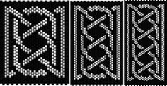 Celtic Knot Ribbon 1 (peyote stitch)