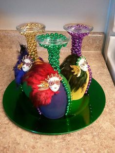 Mardi Gras Centerpiece by TheBamaPlanner on Etsy, $20.00
