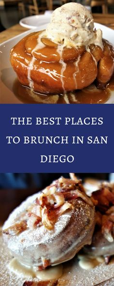 Top 15 Best Places for Brunch in San Diego! Top 15 spots for the best breakfast in San Diego. From shrimp and grits to pancakes, these are my absolute favorite spots to get some breakfast. Breakfast And Brunch, San Diego Breakfast, San Diego Brunch, Brunch Nyc, San Diego Food, Best Breakfast, Brunch Food, Brunch Buffet, Brunch Menu