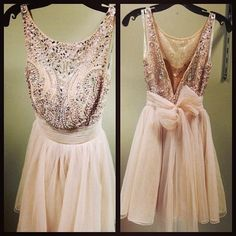 "gorgeous blush pink dress with beading...would be beautiful to add some tulle under to give it a ""fluffier"" effect"