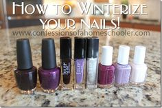 How to winterize your nails and a giveaway check it out!! http://www.confessionsofahomeschooler.com/blog/2014/12/how-to-winterize-your-nails.html