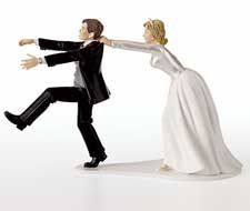 Bride and Groom Cake Toppers Wilton Oh No You Don't Wedding Topper