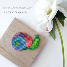 Beaded Flowers Patterns, Beading Patterns Free, Bead Loom Patterns, Stitch Patterns, Pdf Patterns, Fuse Beads, Beads And Wire, Hama Beads, Seed Beads