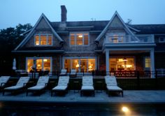 Exterior of East Hampton residence by MARTIN RAFFONE interior design.  Sourced entirely from catalogs!