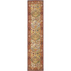 Safavieh Handmade Heritage Bakhtiari Multi/ Red Wool Runner (2'3 x 10')    $96.00