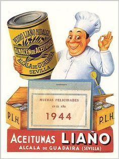 Cartel publicitario de aceitunas. #carteles #posters #publicidad #advertising