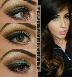 Eye Makeup Tips.Smokey Eye Makeup Tips - For a Catchy and Impressive Look Brown Eyeshadow Tutorial, Best Eyeshadow For Brown Eyes, Bright Eyeshadow, Makeup For Green Eyes, Love Makeup, Makeup Tips, Eyeshadow Tutorials, Makeup Tutorials, Awesome Makeup