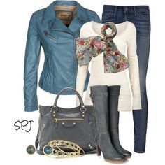 """""""Blue & Grey"""" by s-p-j on Polyvore"""