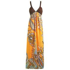 Exploded Paisley Maxi Dress - Women's Clothing and Apparel - Chic Dresses, Fashion Tops, Shoes, Bottoms, Denim and Accessories