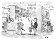 'when it comes to blowing leaves around uselessly and creating an insane amount of noise, this model can't be beat' | nyr cartoon 10/15