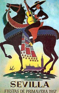 Cartel de Las Fiestas de Primavera de Sevilla 1957