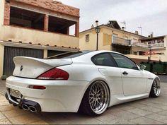BMW E63 M6 white deep dish slammed