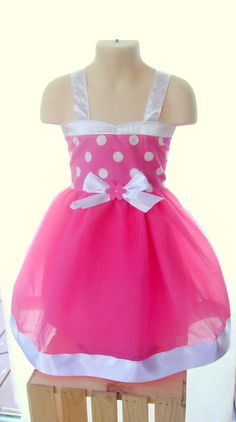 Hey, I found this really awesome Etsy listing at http://www.etsy.com/listing/102606909/minnie-mouse-tutu-dress-pink-and-white