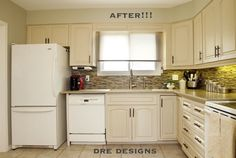 Andrea Guerriero - DRE DESIGNS  www.dredesigns.ca  facebook.com/dredesigns.ca  Kitchen cabinetry done using Annie Sloan Old Ochre