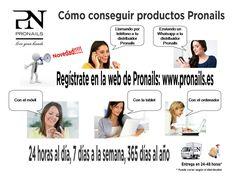 PRONAILS A UN CLIC!!!  REGISTRATE EN: www.pronails.es Y PODRAS REALIZAR TU COMPRA DE PRODUCTOS PRONAILS 24 HORAS AL DÍA, 7 DÍAS A LA SEMANA, 365 DÍAS AL AÑO.  + INFO EN TU DISTRIBUIDOR PRONAILS.  #uñas #gel #esmalte #semipermanente #online #pronails www.pronailssevilla.com