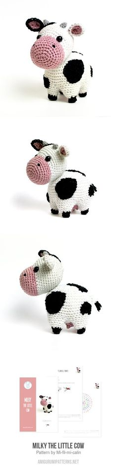 Milky the little cow amigurumi pattern